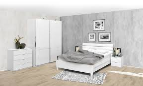 schlafzimmer komplett set a sabadell 4 teilig teilmassiv farbe weiß weiß hochglanz