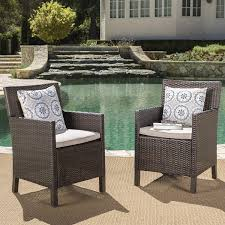 Amazon.com : Cyrus Outdoor Wicker Dining Chairs With Water Resistant ... Red Barrel Studio Dierdre Outdoor Wicker Swivel Club Patio Chair Cosco Malmo 4piece Brown Resin Cversation Set With Crosley Fniture St Augustine 3 Piece Seating Hampton Bay Amusing Chairs Cushions Pcs Pe Rattan Cushion Table Garden Steel Outdoor Seat Cushions For Your Riviera 4 Piece Matt4 Jaetees Spring Haven Allweather Amazoncom Festnight Ding Of 2