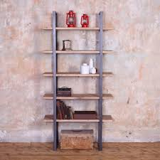 Industrial Style Reclaimed Wooden Metal Shelving Unit Shelf Rack Storage Rustic