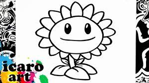 Como Dibujar El Girasol De Plants Vs Zombies How To Draw Sunflower