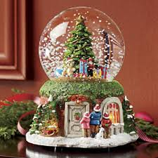 lighted christmas musical snow globe from montgomery ward are