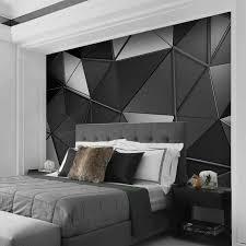 nach 3d tapete für wände moderne 3d stereoskopischen schwarz grau geometrische kunst wandbild schlafzimmer wohnzimmer tv hintergrund wand dekor