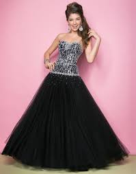 fashionable tulle bodice floor length mini black strapless silver