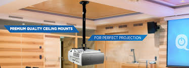 Epson Universal Projector Ceiling Mount Manual by Qualgear Qg Pm 002 Wht L Universal Projector Ceiling Mount Long