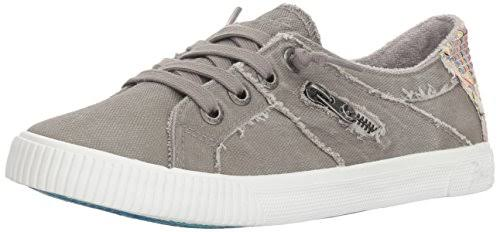 Blowfish Women's Fruit Slip On Sneakers - Gray Smoke, 6 US