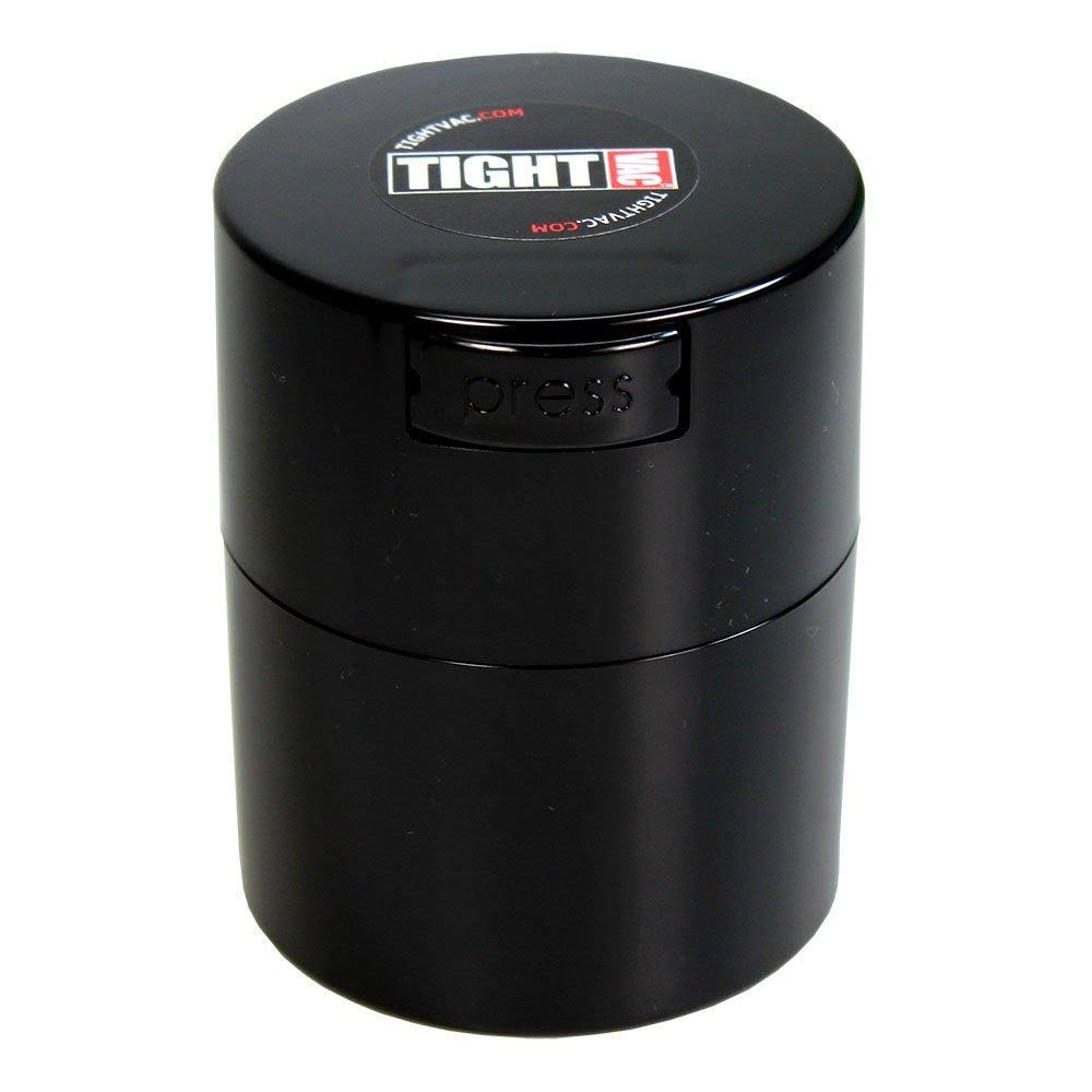 Tightvac Airtight Multi-Use Vacuum Seal Portable Storage Container - Black, 1/2oz to 3oz