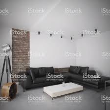modernes schwarzes ledersofa in luxusinterieur stockfoto und mehr bilder architektur