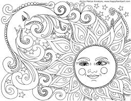 Sun And Moon Coloring Pages Art Zentangle Drawing