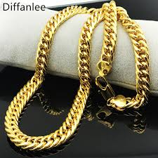 Fashion Nickel Free Heavy Miami Cuban Chains For Men Hip Hop Jewelry Wholesale Gold Color Thick