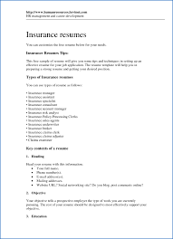 Chic Insurance Resume Template With Underwriter Sample Sniihd Lovely Example