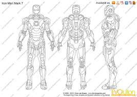 Iron Man Drawings