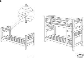 ikea hemnes bunk bedframe twin assembly instruction download