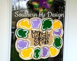 Burlap Mardi Gras Door Decorations by Affordable Wooden Door Hangers Signs U0026 Gifts By Southernbydesignco