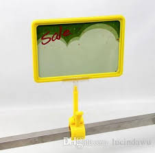 A4 Frame with POP Price Ticket Tag Sign Advertising Poster Clip