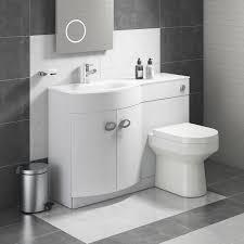 Lorraine Combination Bathroom Toilet Left Hand Sink Unit White