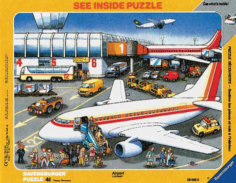 Ravensburger At The Airport See Inside Puzzle - 41 Pieces