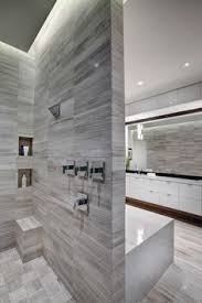 modern master bathroom with limestone tile floors dupont corian