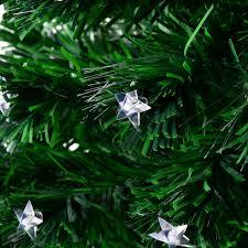 8 Ft Pre Lit Multicolor Christmas Tree by Aosom Homcom 7 5 U0027 Artificial Rotating Pre Lit Multicolor Star