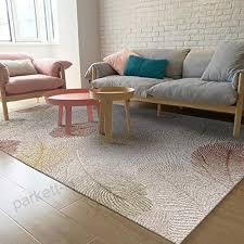 moderner teppich kurzflor geometrisch wohnzimmer muster