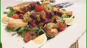 cuisiner les gesiers salade aux gésiers confits et pommes de terre recette par