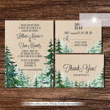 Outdoor Themed Wedding Invitations Mountain Ideas Rusti And Rummy Garden