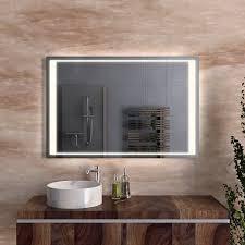 badspiegel umlaufend beleuchtet und satiniert