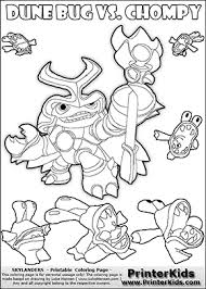 Skylanders Swap Force Coloring Page With A Group Of Chompies And Large Dune Bug