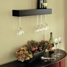 Wine Bottle Cork Holder Wall Decor by Under Shelf Stemware Holder Wall With Wine Glass Rack Mounted