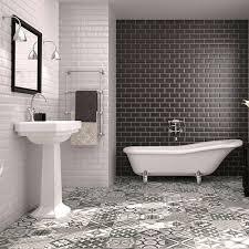 grey morrocan floor tiles new york apt gray bath