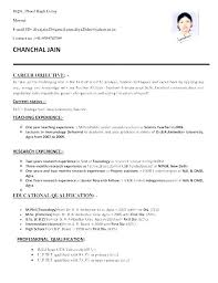 Freshers Resume Samples Computer
