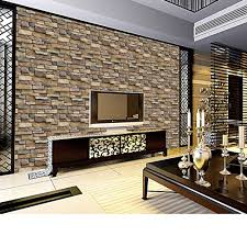 3D Wall Paper Brick Stone Rustic Effect Self Adhesive Sticker Home Decor Wallpaper Stickers Roll For Living Room Cover In From