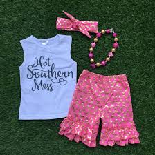 2016new baby girls summer clothes boutique clothing girls
