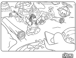 Club Penguin Coloring Page 76