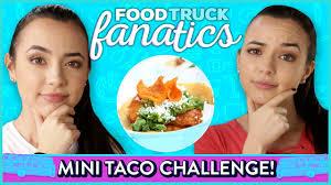 100 Taco Truck Challenge MINI TACOS CHALLENGE Food Fanatics W Merrell Twins YouTube