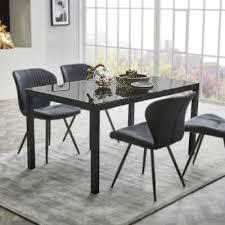 esstisch timbas esszimmertisch küchentisch tisch in schwarz
