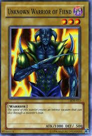 yugioh fiend deck 2008 unknown warrior of fiend sdk 017 non holo at yu gi oh cards net