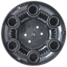 Set Of 4 Replacement Aftermarket Black Center Caps 16
