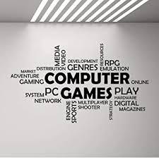 wortwolke computerspiele wand vinyl aufkleber jungen