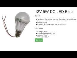 12v dc led bulb by belifal works on any 12v battery