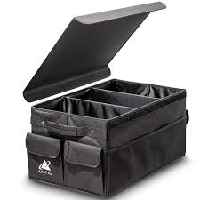 Premium Foldable Car Trunk Organizer With Lid Cover By AMT Pro ...