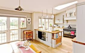 Open Plan Kitchen Diner Living Room Country Style