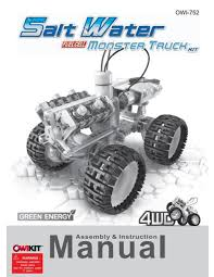 100 Monster Truck Engine Salt Water Fuel Cell Manual OWI Inc Dba Robotikits