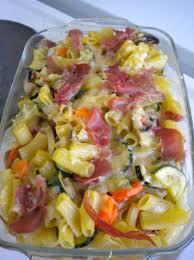 gratin de pâtes aux légumes et jambon cru ma ptite cuisine by