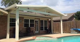 Traditional Style Patio Ideas with Gable Style Metal Patio Cover