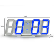 Unique Design Large Led Digital Wall Clock 8 Shape