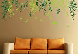 Free Shipping Home Decor Mural Vinyl Wall Sticker Spring Birds Among Green Leaves Branch Kids Nursery