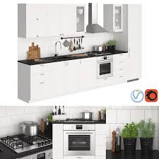 kitchen ikea metod savedal 3d model 3d model kitchen ikea metod savedal 27774 3dbaza
