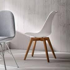 retro stuhl vanity in weiß eiche 2er set