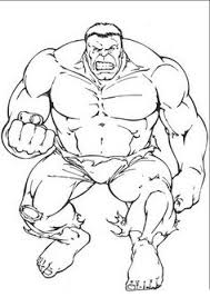 Superhero Hulk Colouring Pages Free For Boys Girls