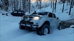 100 Trucks In Snow Toyota Arctic Trucks In Snow YouTube